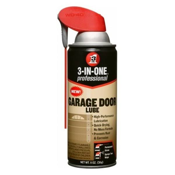 3-In-One Professional Garage Door Lubricant Spray - 11oz