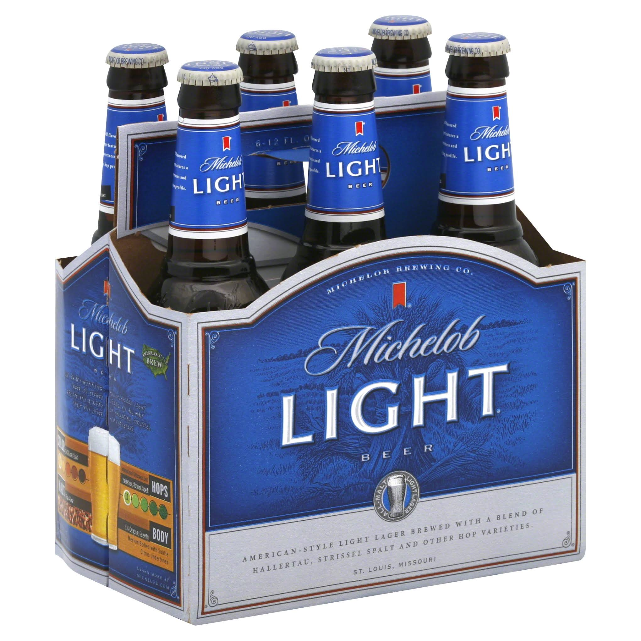 Michelob Light Beer - 6 Bottles