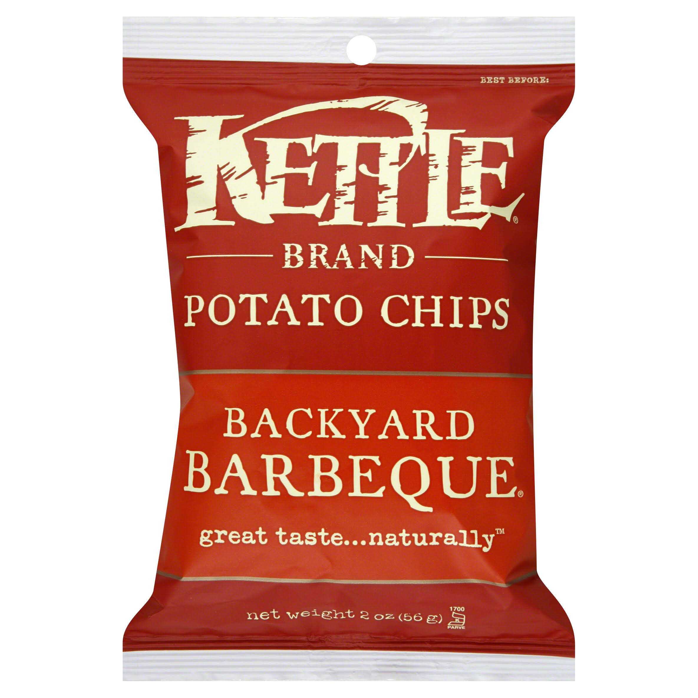 Kettle Brand Potato Chips - Backyard Barbeque, 2oz