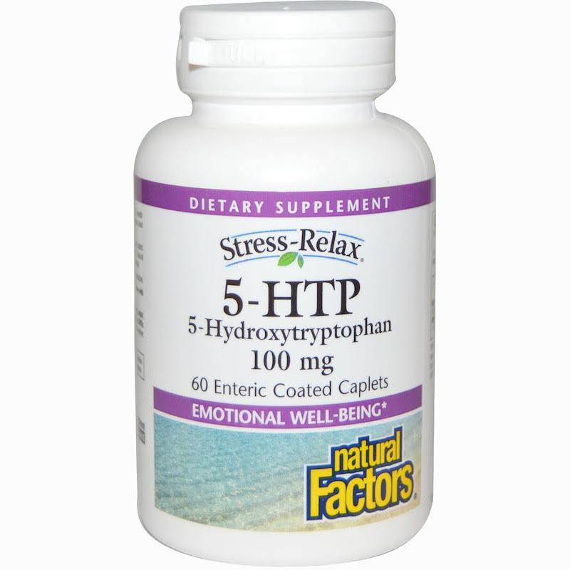 Natural Factors 5-HTP Dietary Supplement - 100mg, 60 Enteric Coated Caplets