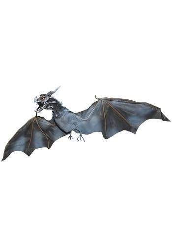 Sunstar Industries Animated Flying Blue Dragon Light Up Hanging Prop Halloween Decoration - 47""