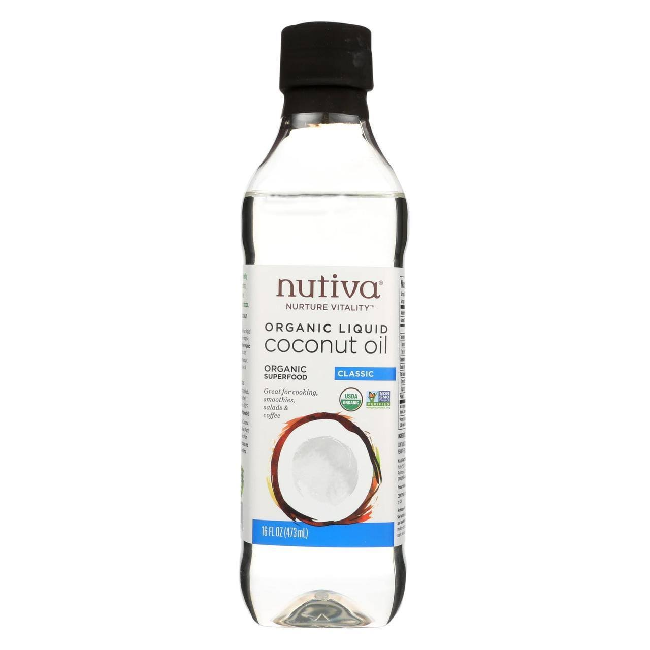 Nutiva Organic Liquid Coconut Oil - Classic, 16oz