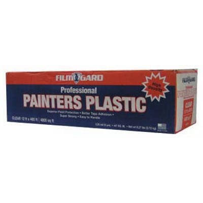 Film Gard Painter's Plastic - Clear Sheeting Roll, 12'x400'