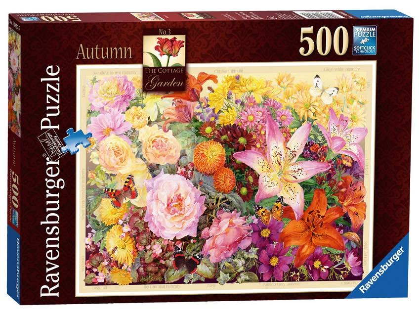 Ravensburger The Cottage Garden No.3 Autumn Puzzle - 500 Pieces