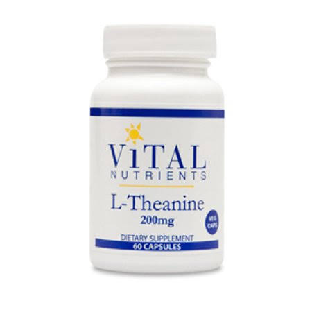 Vital Nutrients L-Theanine 200 mg, 60 Capsules