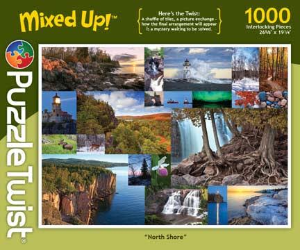 PuzzleTwist Mixed Up 1000 Piece Jigsaw Puzzle North Shore
