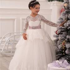 ivory lace flower girl communion dresses pageant dresses
