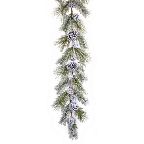 Melrose International 69408 Snowy Pine Garland, Set of Two