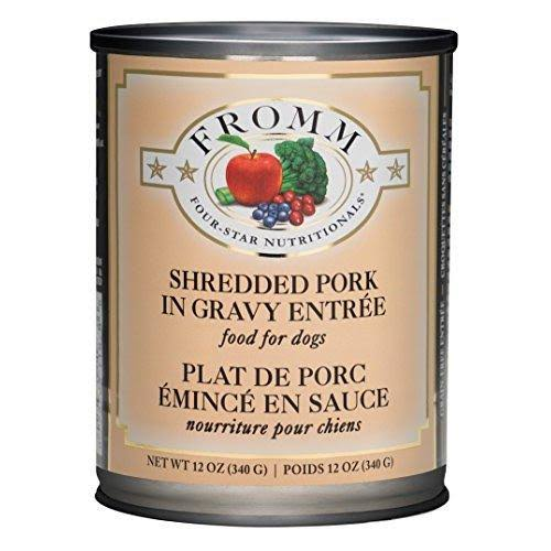 Fromm Four-Star Shredded Pork in Gravy Entree Canned Dog Food