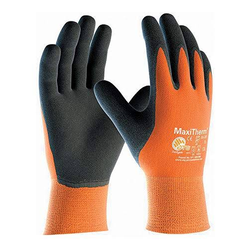 Maxi Therm Protective Gloves - Grey & Orange, Size 10