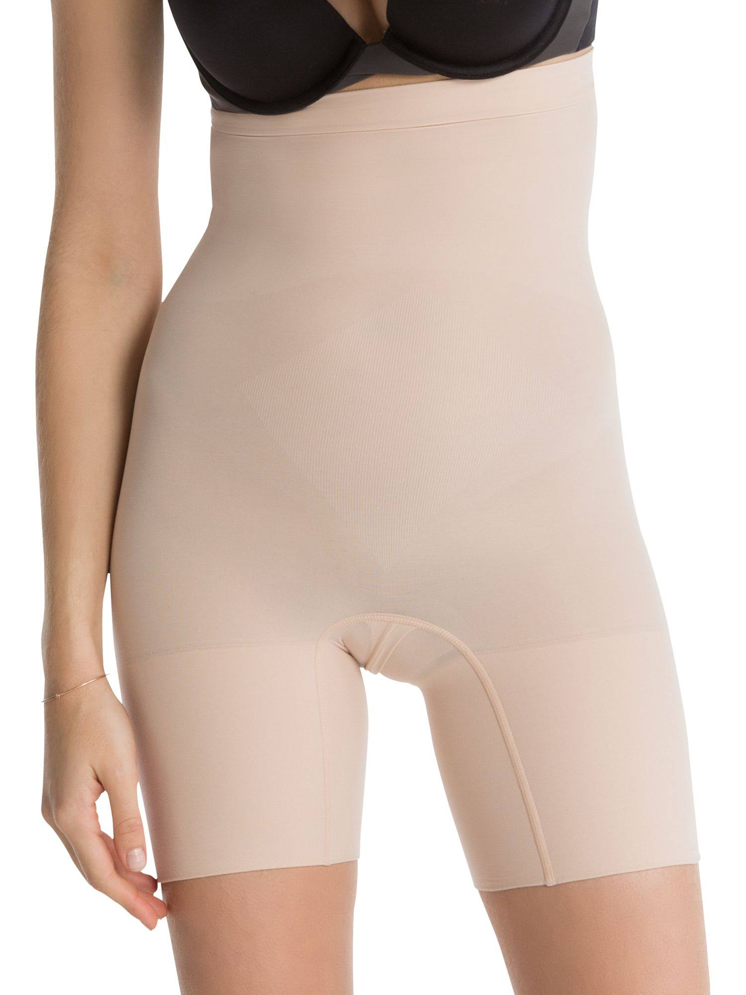 Spanx Higher Power Shorty High Waisted Shaper Short - 2745 Soft Nude, XLarge