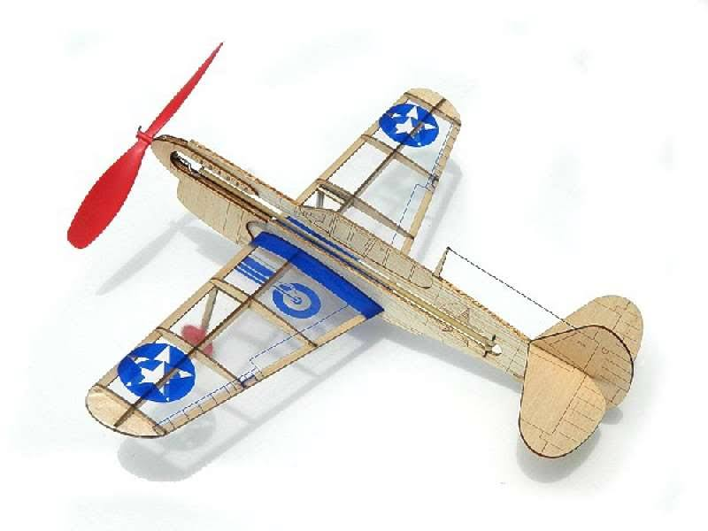 Guillows Us Warhawk Laser Cut Wood Model Kit