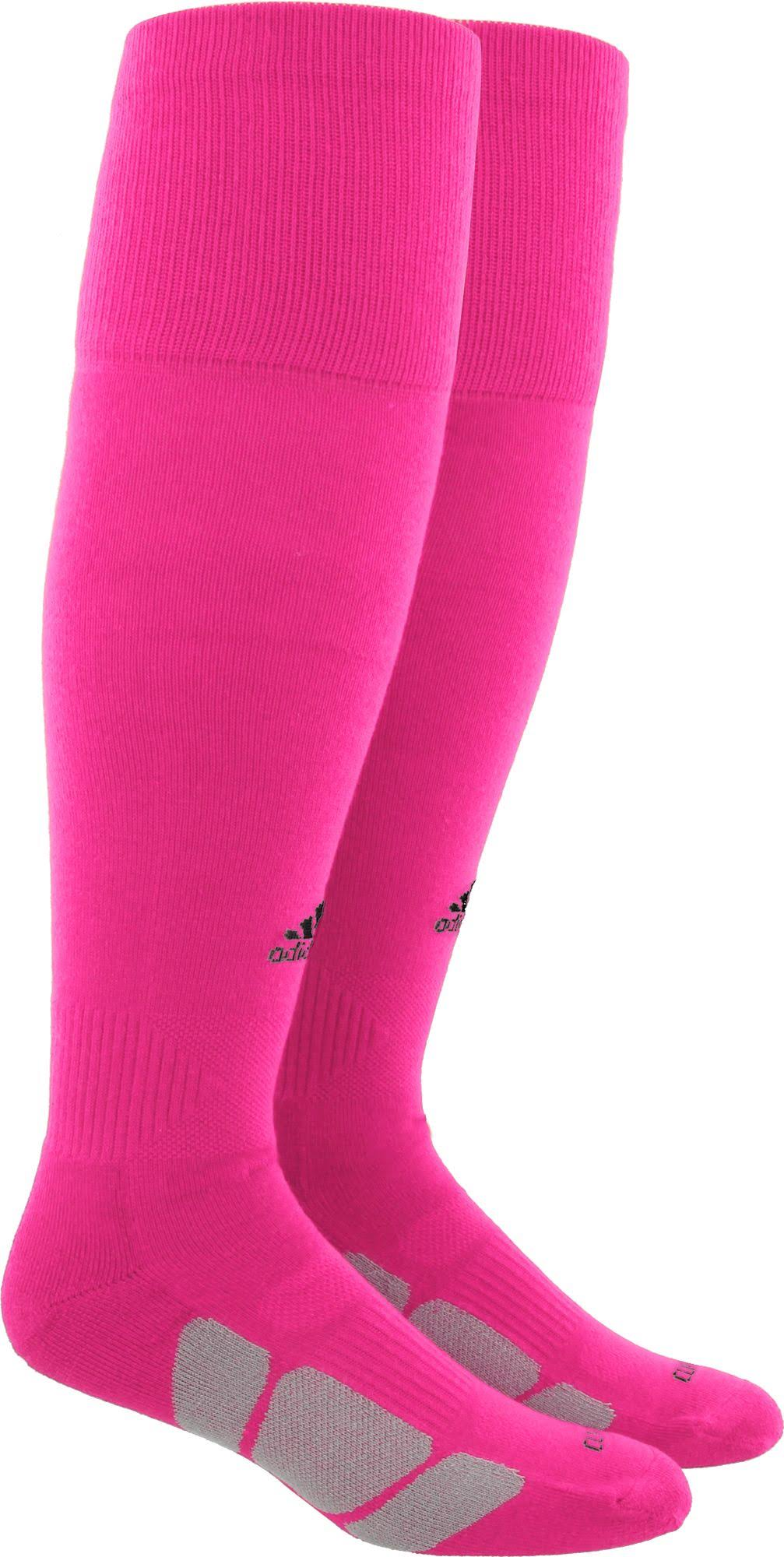 Adidas Utility Long Soccer Socks - Neon Pink, Pink, X-Small