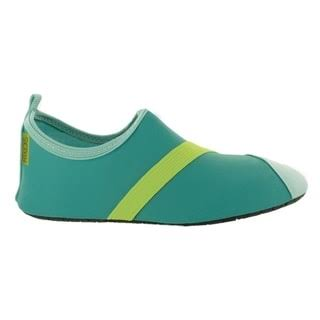 Fitkicks Active Lifestyle Footwear With Flexible Sole - Turquoise and Green, 7 US