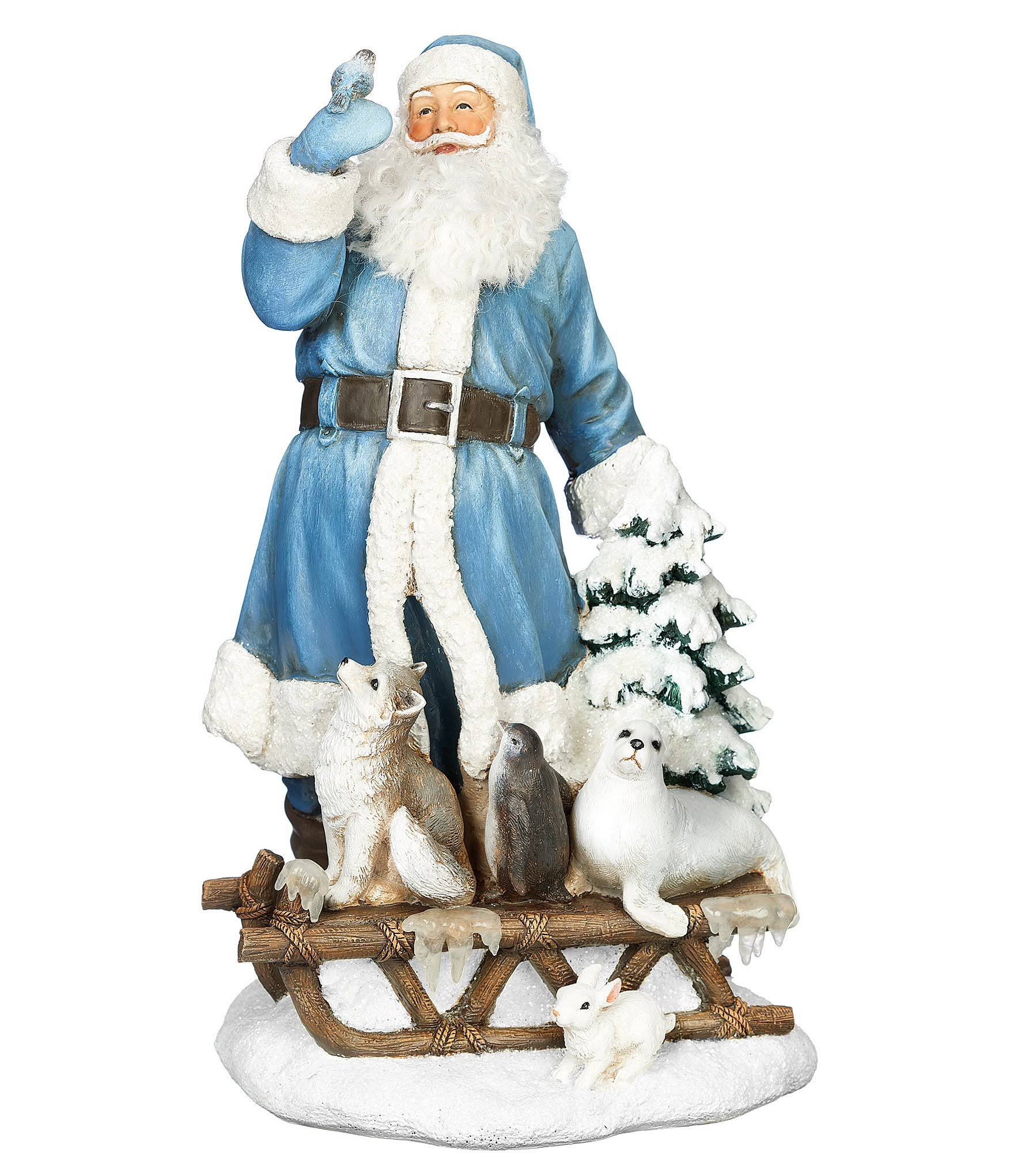 Roman Santa with Animals on Sleigh Figurine