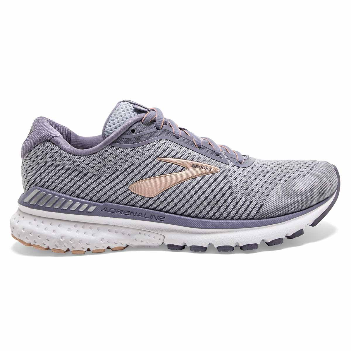 Brooks Women's Adrenaline GTS 20 Running Shoes, Grey - Size 5.5