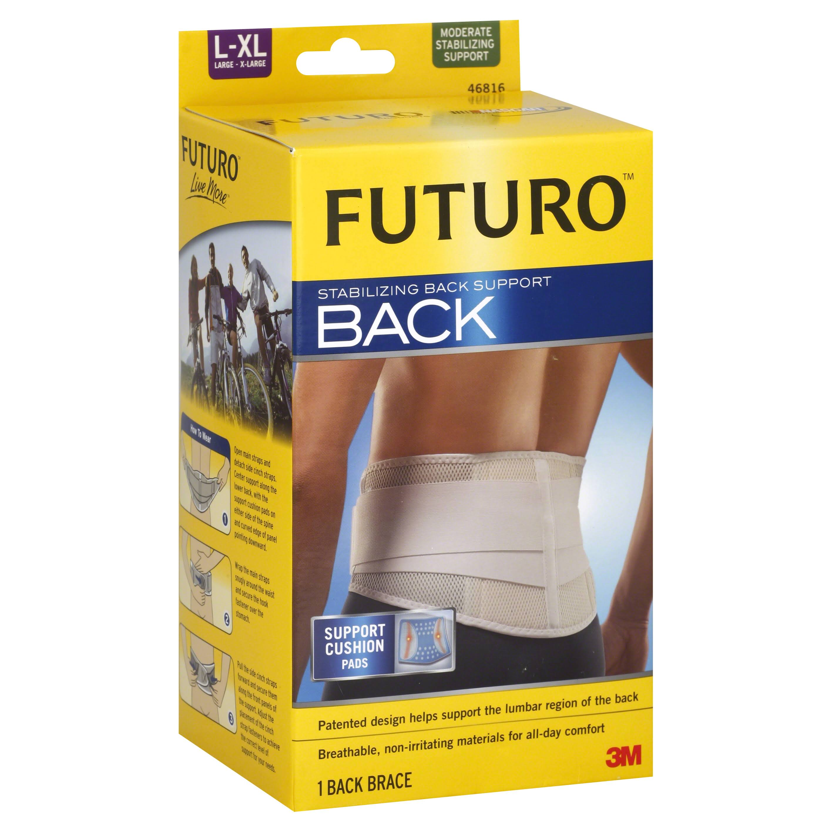 Futuro Back Stabilizing Back Support - White, Large & X-Larg