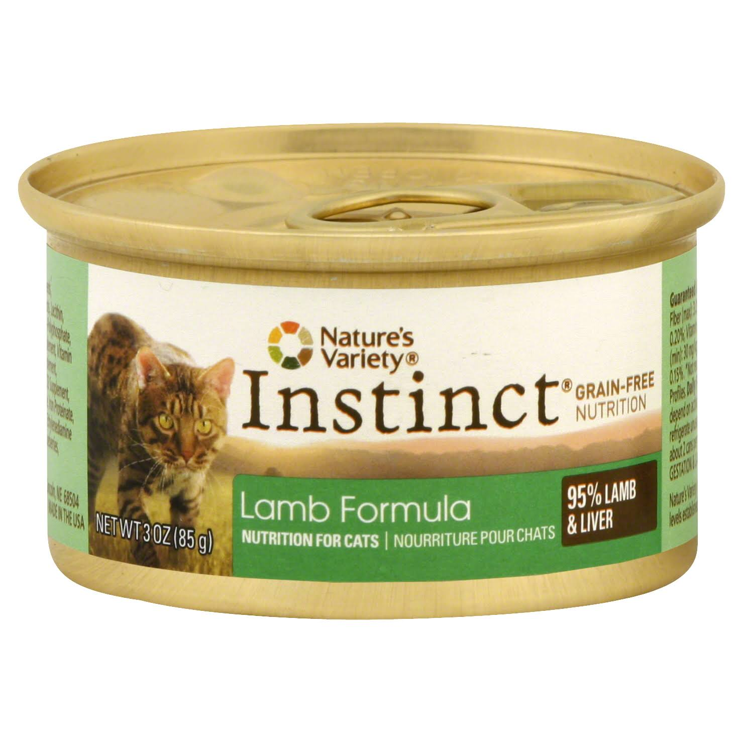 Nature's Variety Instinct Can Cat Food - Lamb, 3oz