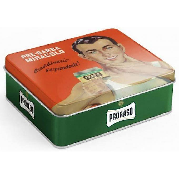Proraso Vintage Refresh Shaving Kit Cream Balm Eucalyptus Gino Tin Gift Set - 3pc