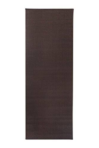 Ritz Accent Rug with Latex Backing, 20-inch by 60-Inch Runner, Chocolate Brown