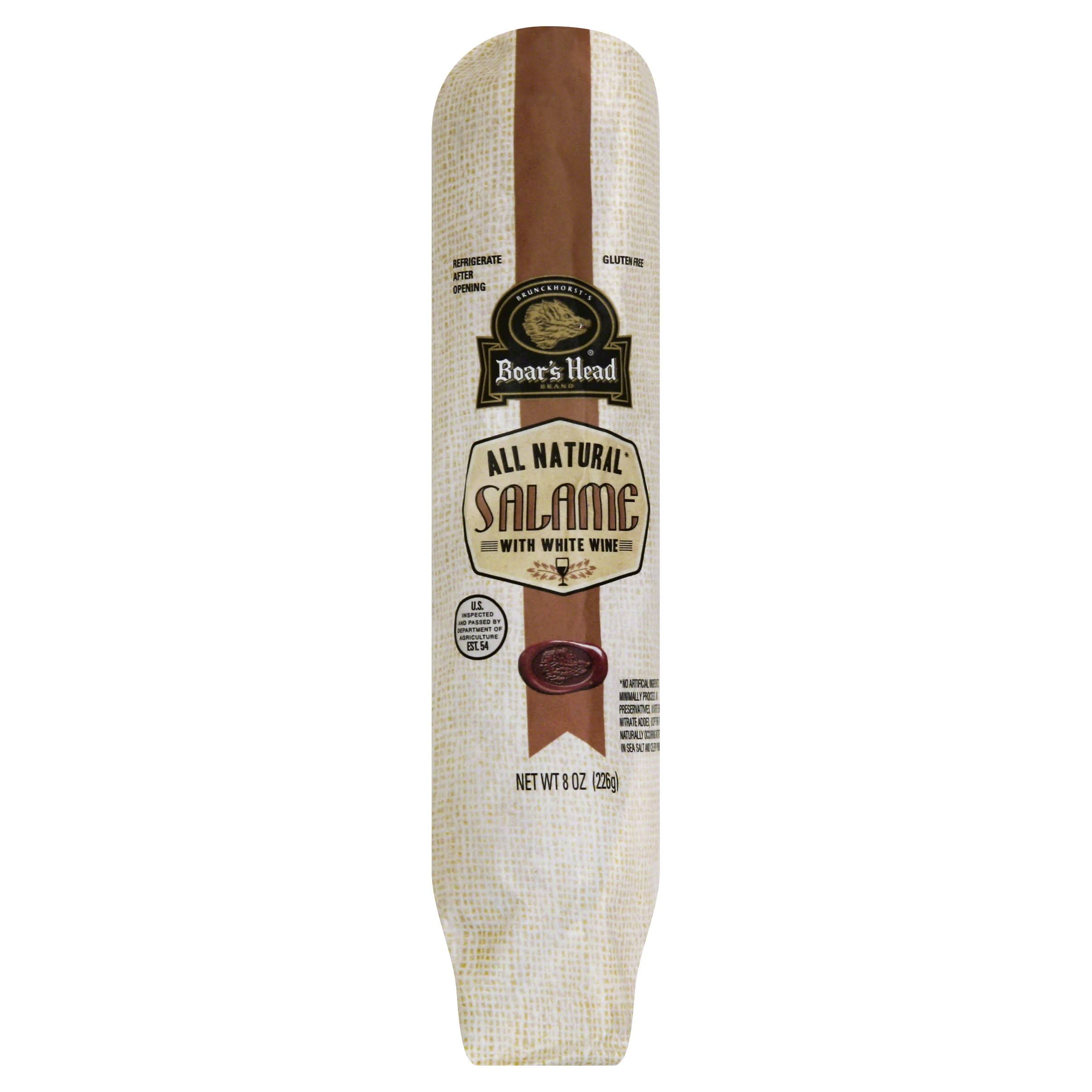 Boars Head Brunckhorst's Salame, with White Wine - 8 oz