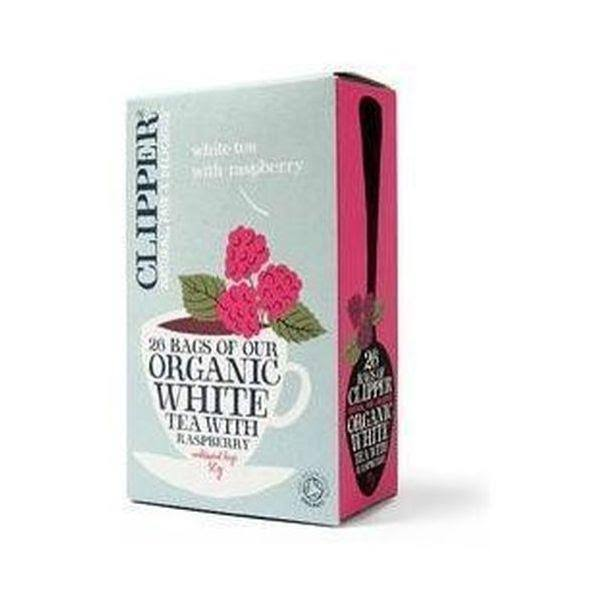 Clipper Organic Tea Bags - White and Raspberry, 26 Bags, 45g