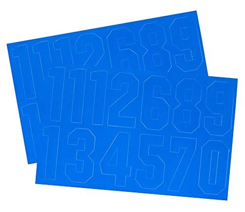 A & R Helmet Number Decals