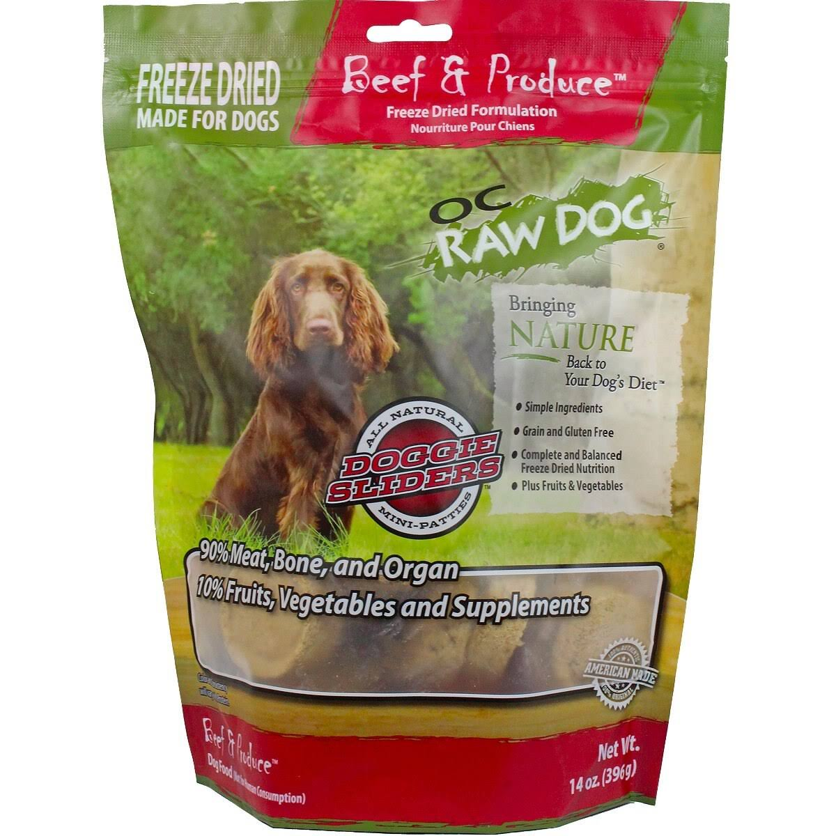 OC Raw Dog Freeze Dried Dog Food - Beef & Produce