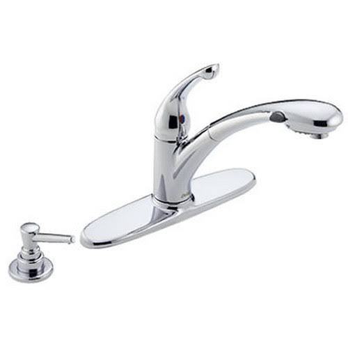 Delta Signature Single Handle Pull-Out Kitchen Faucet - Chrome