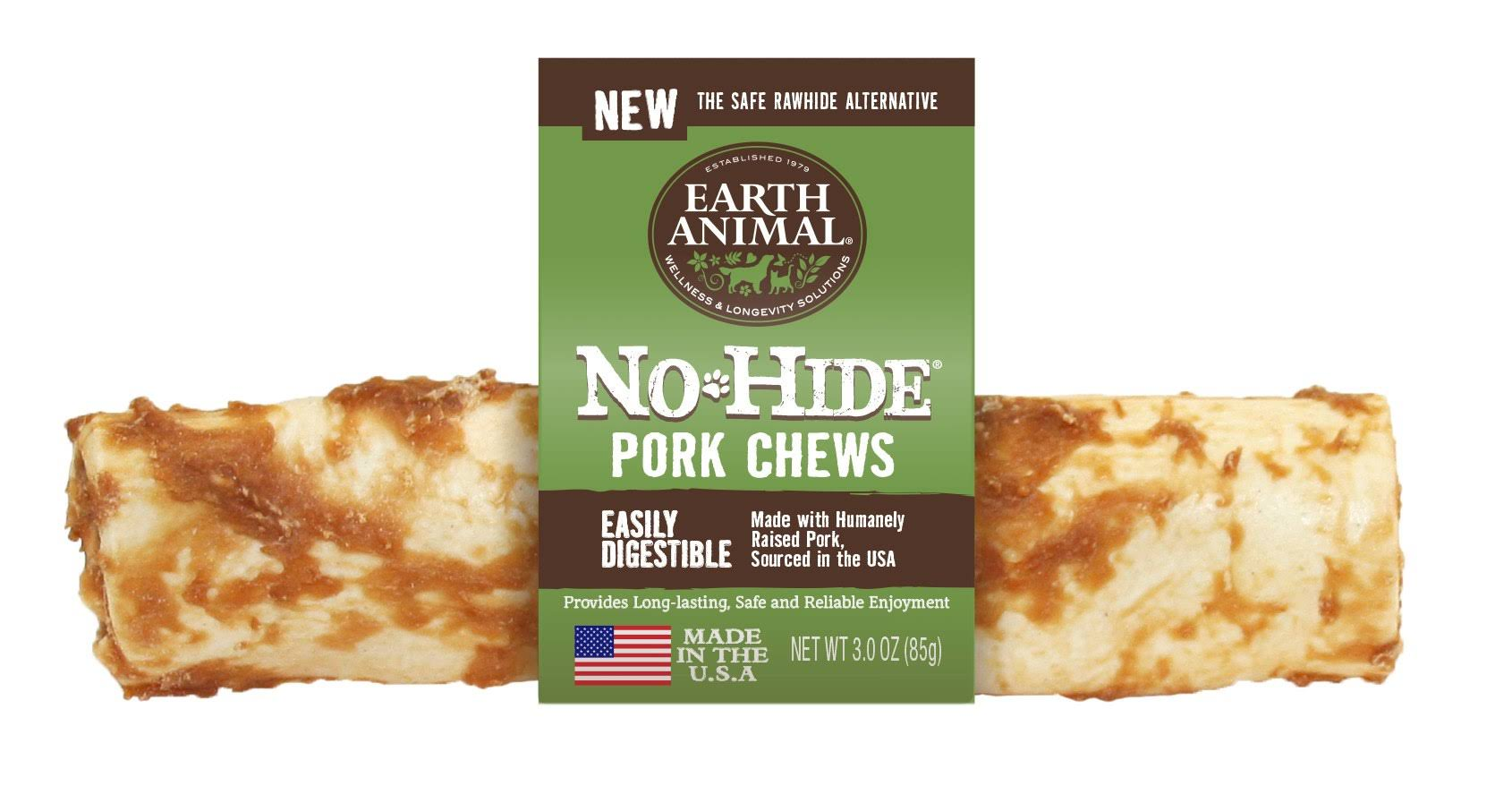 "Earth Animal No Hide Pork 7"" Dog Chew"