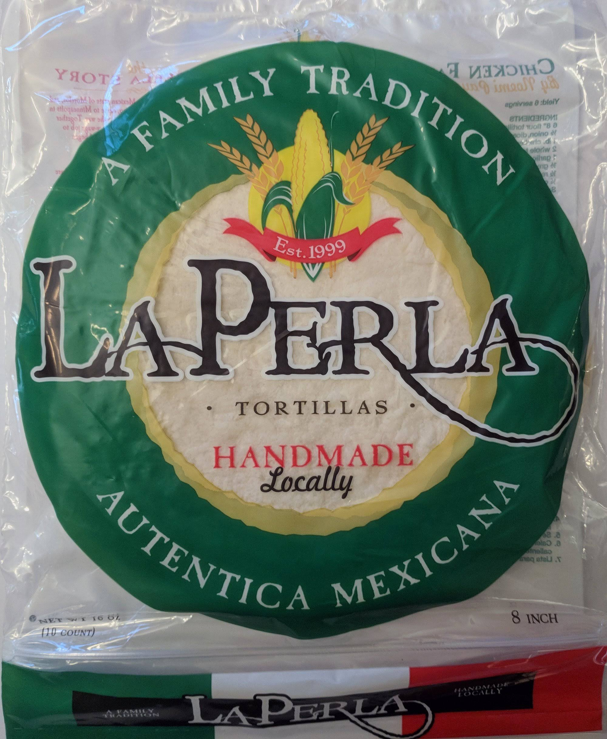 "La Perla Fresh Flour 8"" Tortillas"