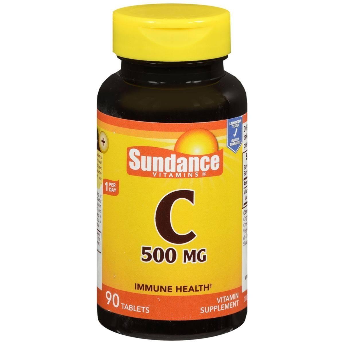 Sundance Vitamin C Vitamin Supplement - 500mg, 90 Tablets