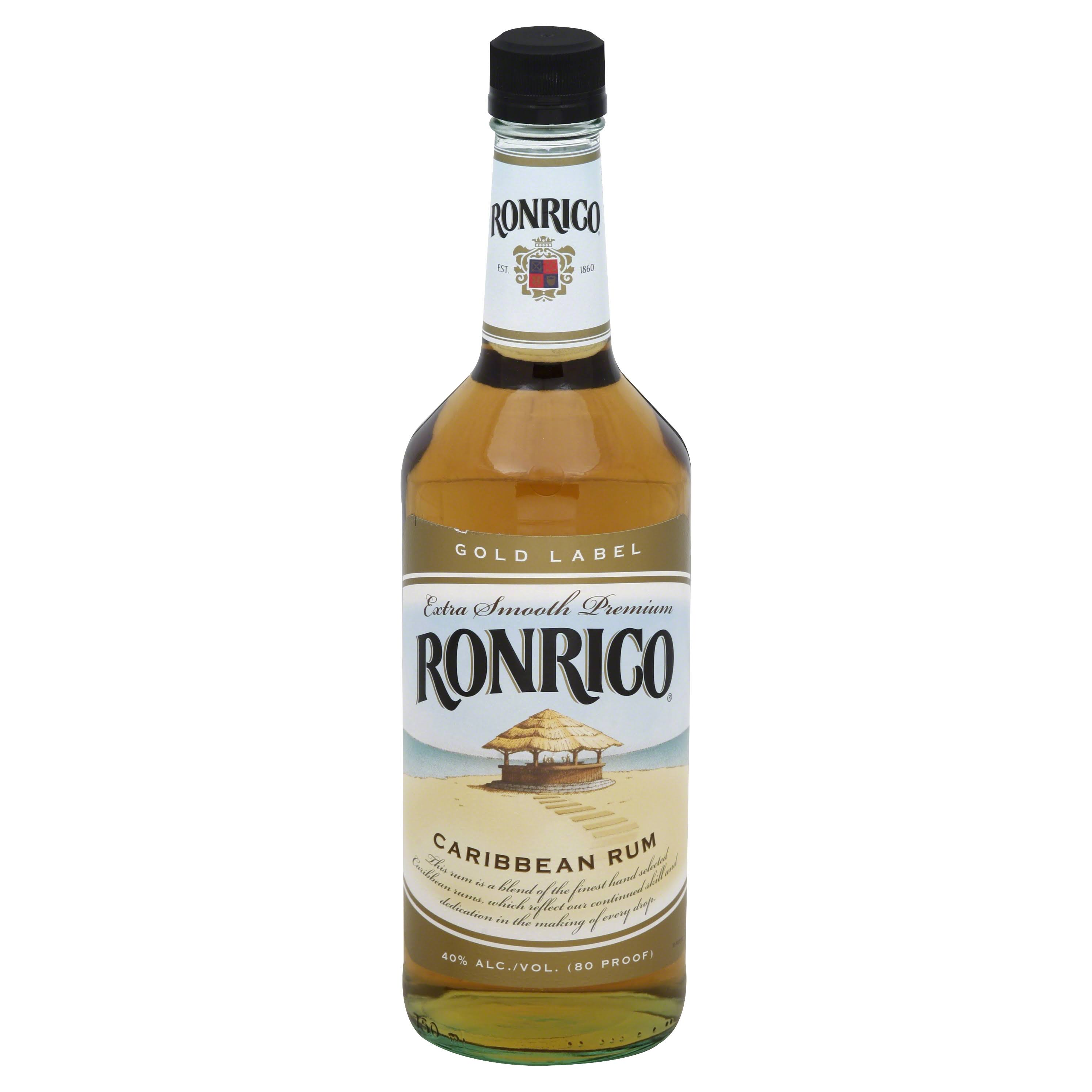 Ronrico Gold Label Rum, Caribbean - 750 ml