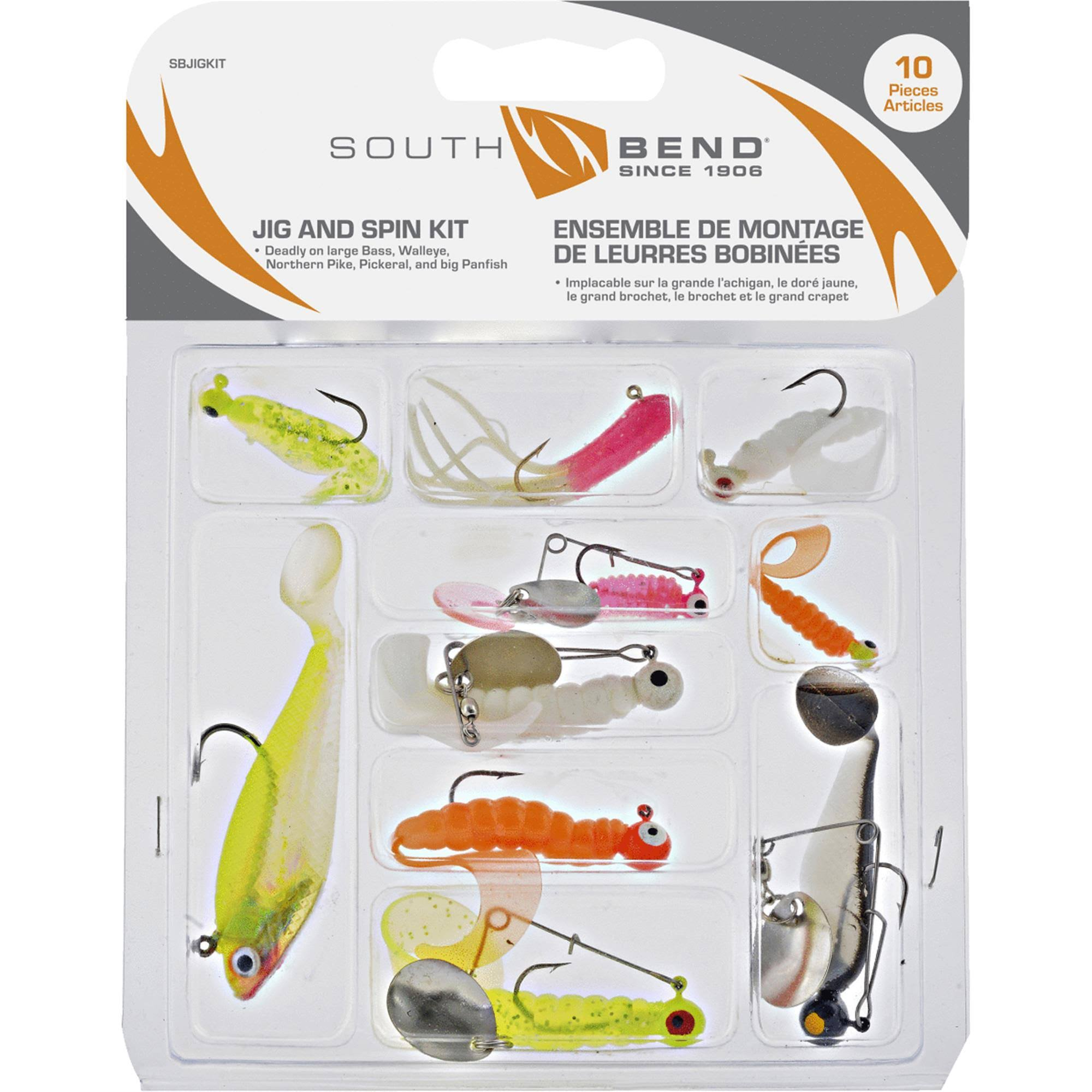 South Bend Jig and Spin Kit - 10pc