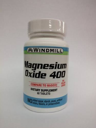 Generic Magnesium Oxide 400 mg Tablets by Windmill- 60 EA