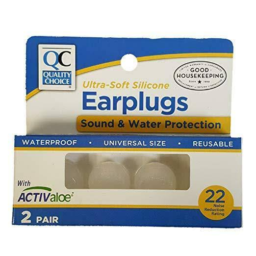 Quality Choice Ultra-Soft Silicone Ear Plugs 2 Pair
