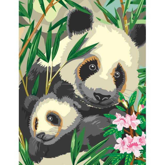 Painting by Numbers - Panda & Baby