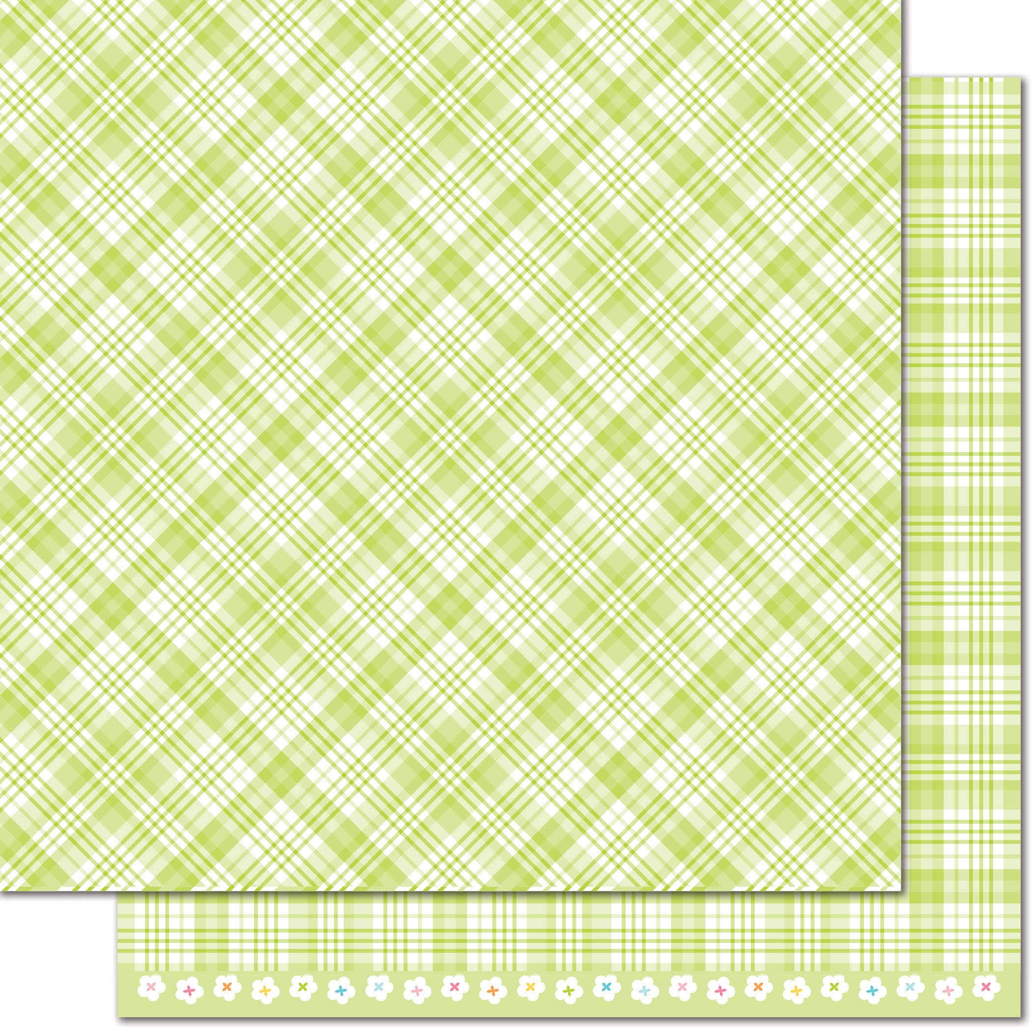 Lawn Fawn Perfectly Plaid Lily of The Valley Paper