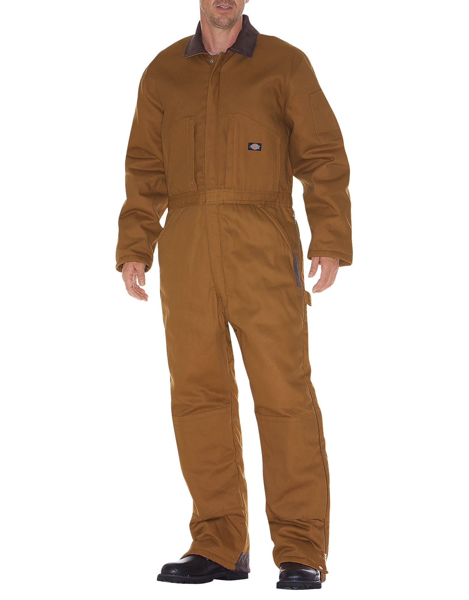 Dickies Men's Premium Insulated Duck Coverall - Brown, X-Large