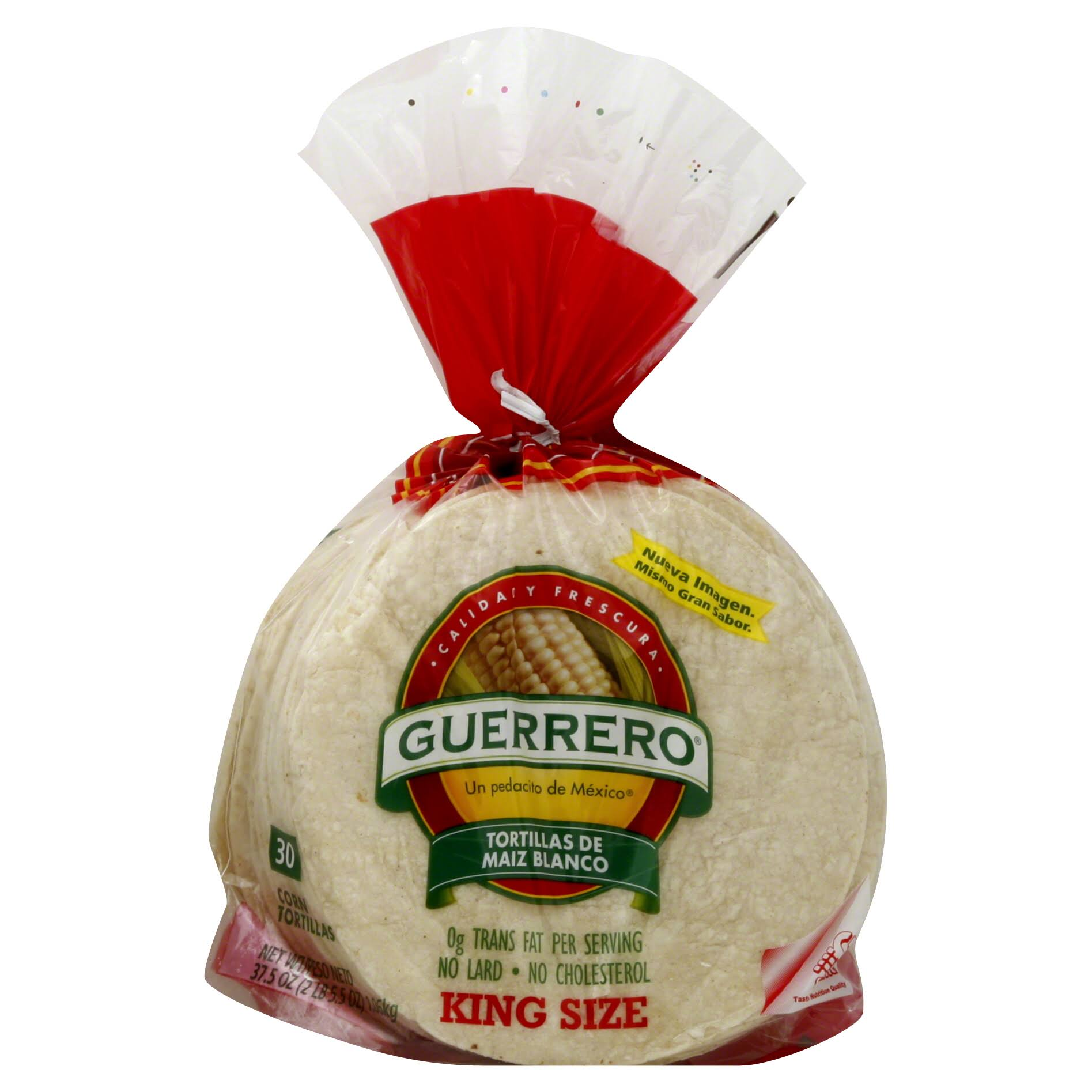 Guerrero Corn King Size De Maiz Blanco Tortillas - 30ct