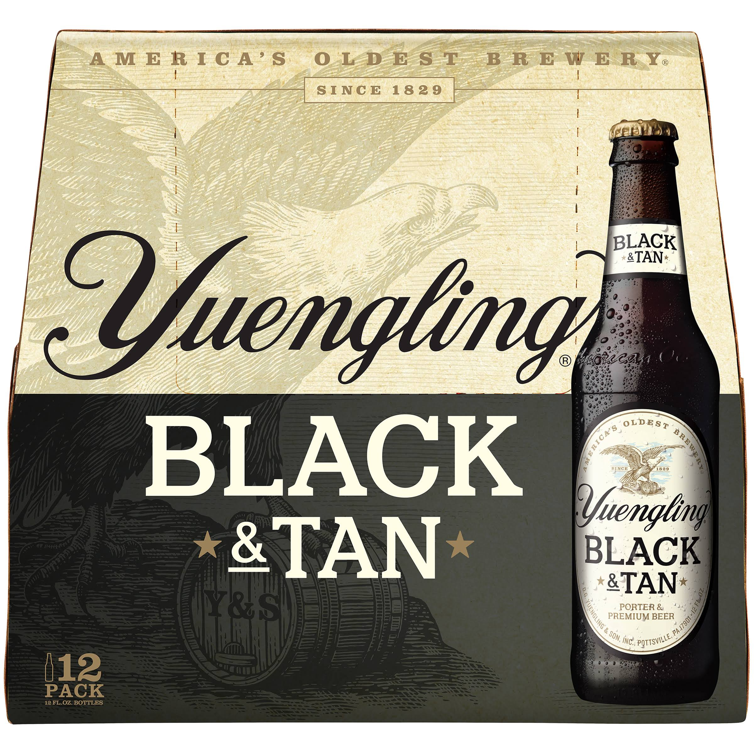 Yuengling Black & Tan, Original - 12 pack, 12 fl oz bottles