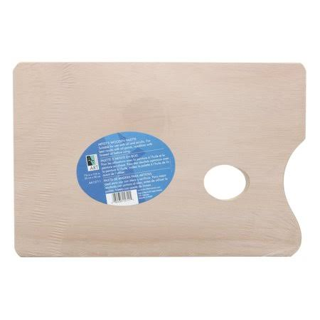 "Art Alternatives Artist's Wooden Palette, Rectangular 7-7/8"" x 11-3/4"""