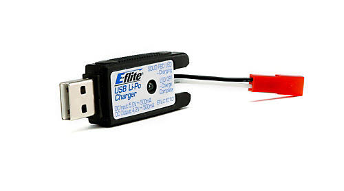 E-flite 1S USB Lipo Charger - with JST, 500ma