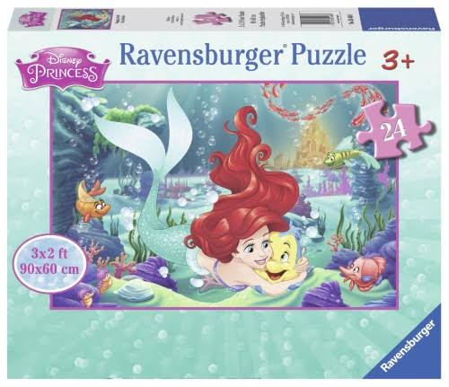 Disney Princess The Little Mermaid Jigsaw Puzzle - Hugging Ariel, 24 Pieces
