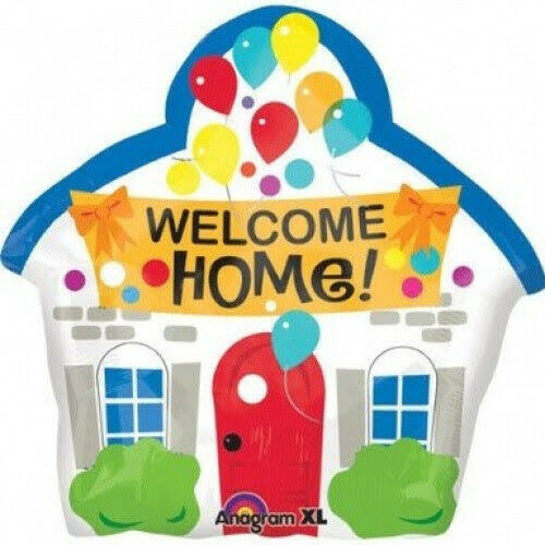 Anagram Welcome Home House Shaped Mylar Foil Balloon - 46cm