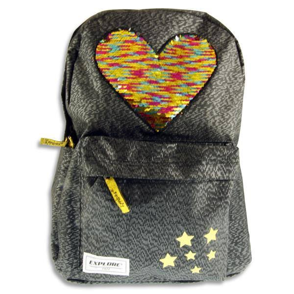 Explore Extra-Strong 20ltr Backpack - Hearts on Black