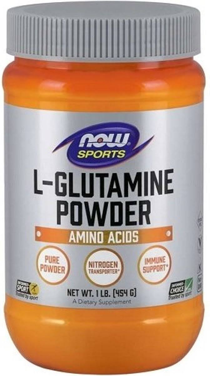 Now Foods L-Glutamine Pure Powder - 454g