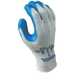 Showa Best Glove - Gray with Blue Coating, X-Large