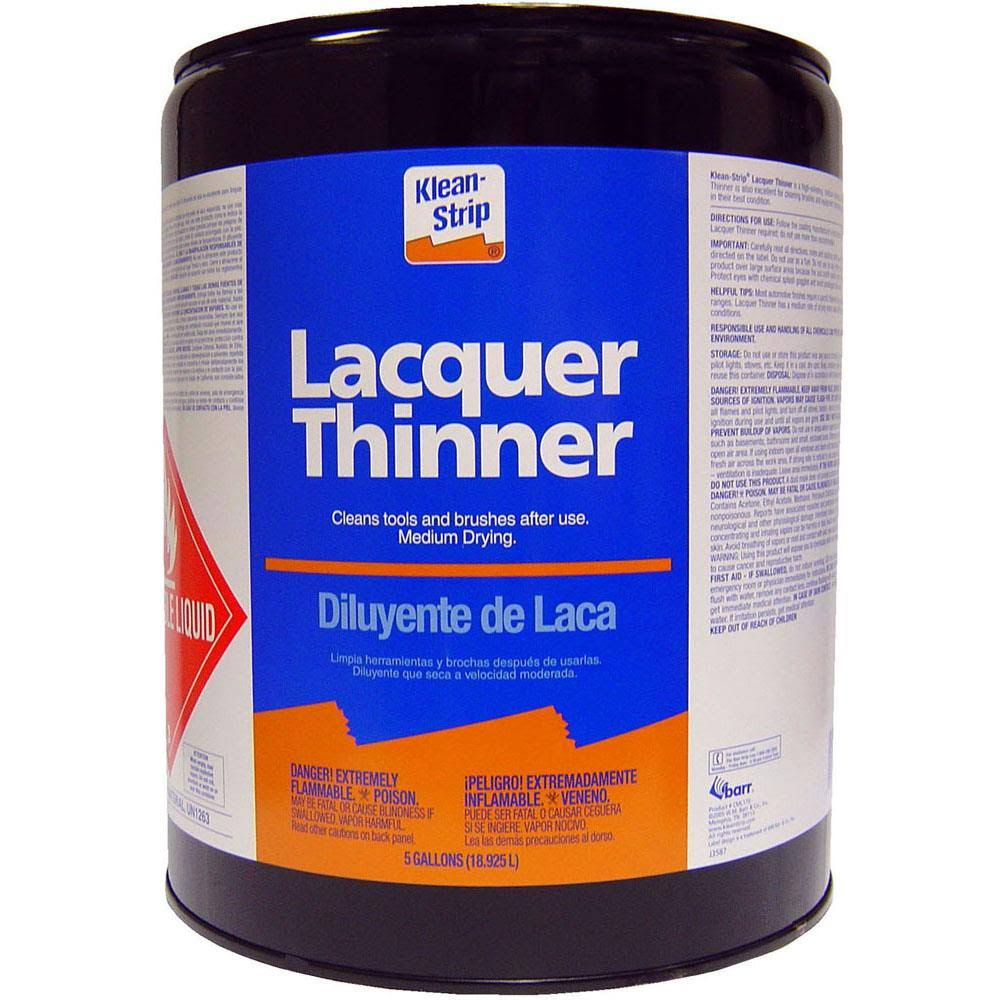 W M Barr Branded Sales Lacquer Thinner - 5gal