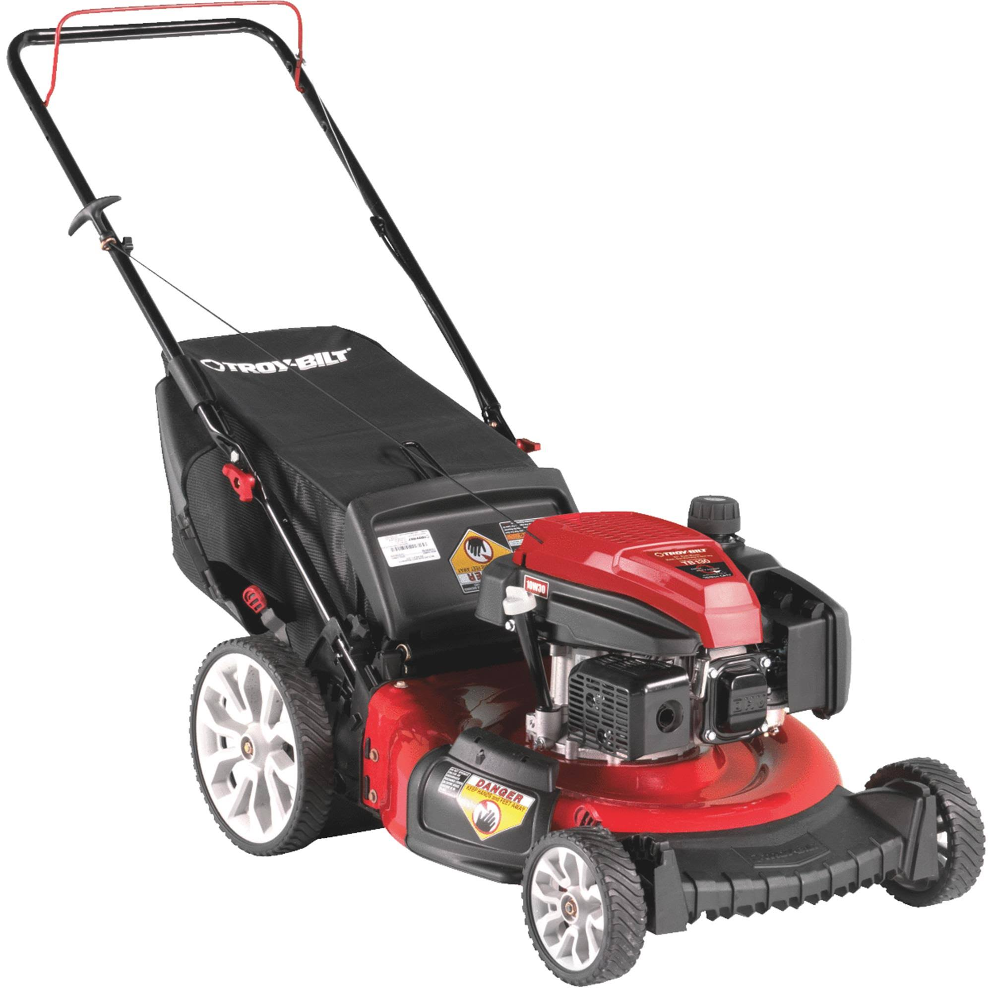 "Troy-Bilt TB130 Gas Walk Behind Push Mower - 21"", 159cc"